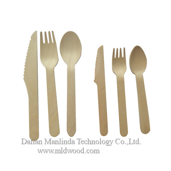 Disposable wooden cutlery wooden spoon, wooden fork, wooden knife