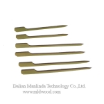 Green bamboo flat skewer
